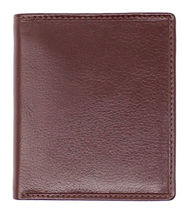 TOPSUM LONDON Mens Compact Leather Extra Capacity Slim Bifold Wallet 4010