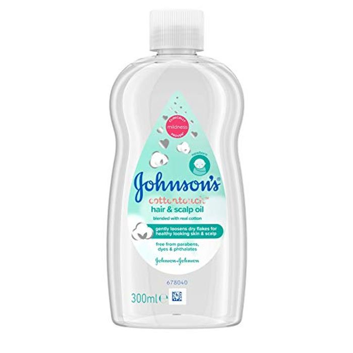 Johnson's Baby Cotton Touch Hair and Scalp Oil, 300 Ml