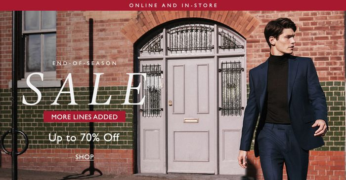 15% off First Orders over £120 at Moss Bros