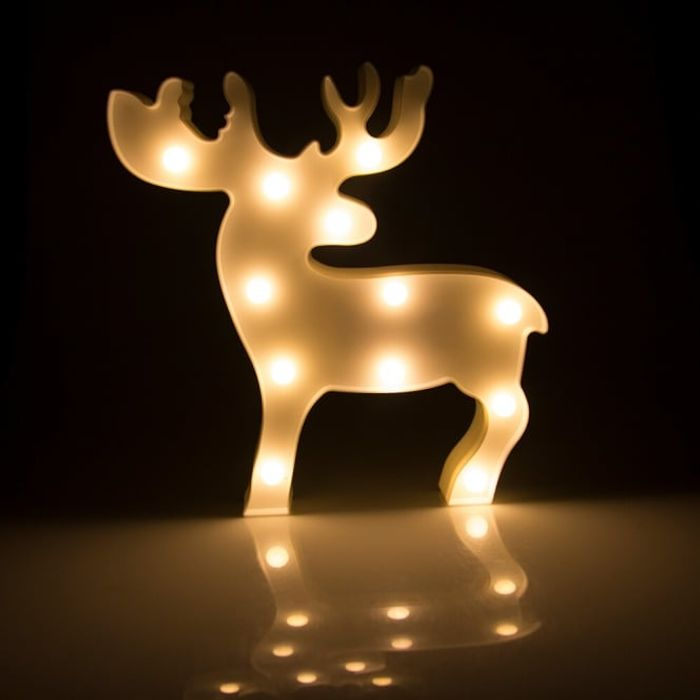 12 LED Plastic Reindeer - Save 50%