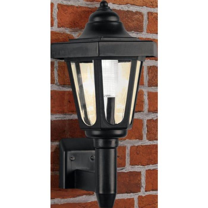 Argos Home LED Solar Outdoor Wall Light - Black