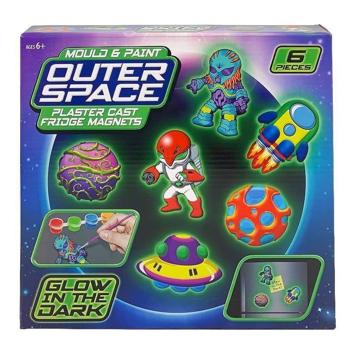 Outer Space Mould & Paint Fridge Magnet Set