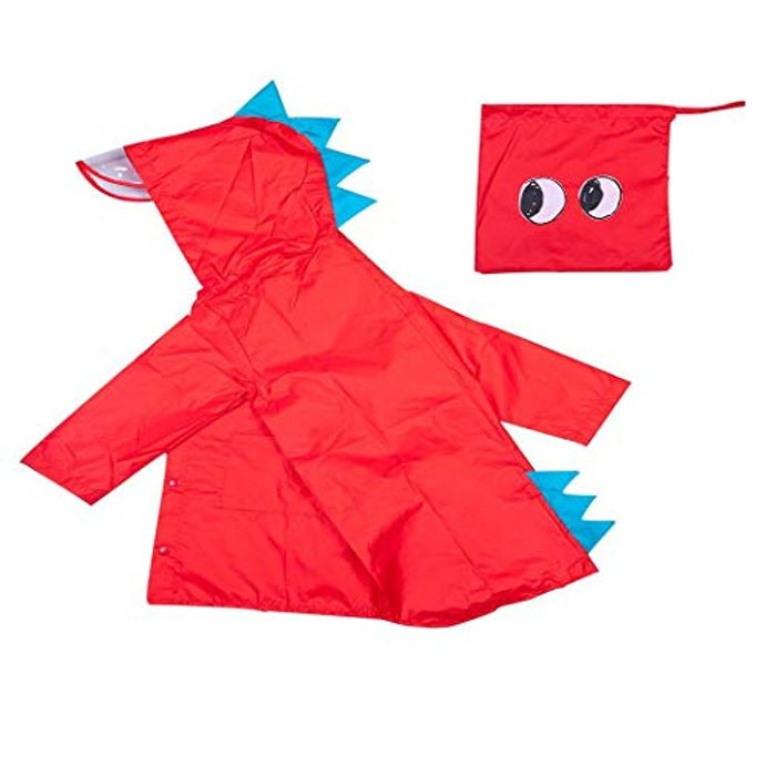 Cute Dinosaur Childs Raincoat