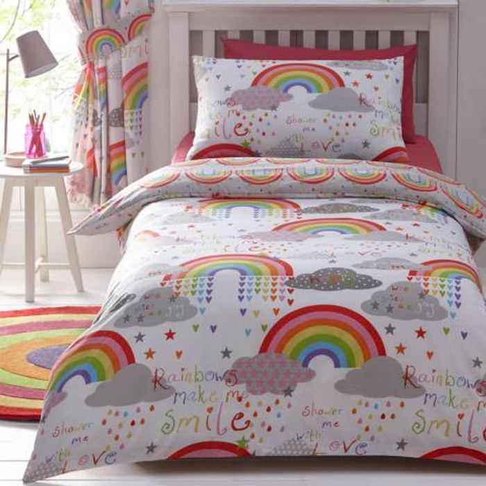 Clouds & Rainbows Single Duvet Cover Set Down From £21 to £11