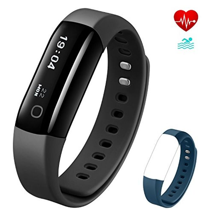 4 Fitness Tracker with Heart Rate Monitor,IP68 Waterproof