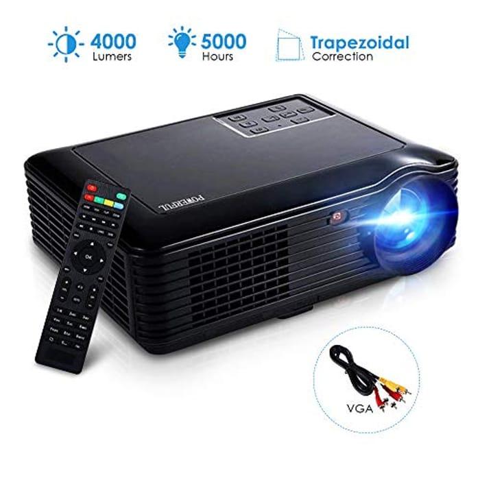 Deal Stack-Home Projector 4000 Lumens, Joyhero 4000 Lumens Video Projector