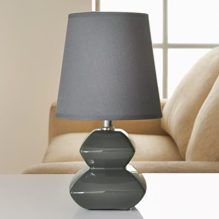 Pagoda Pebble Table Lamp - Grey at B&M