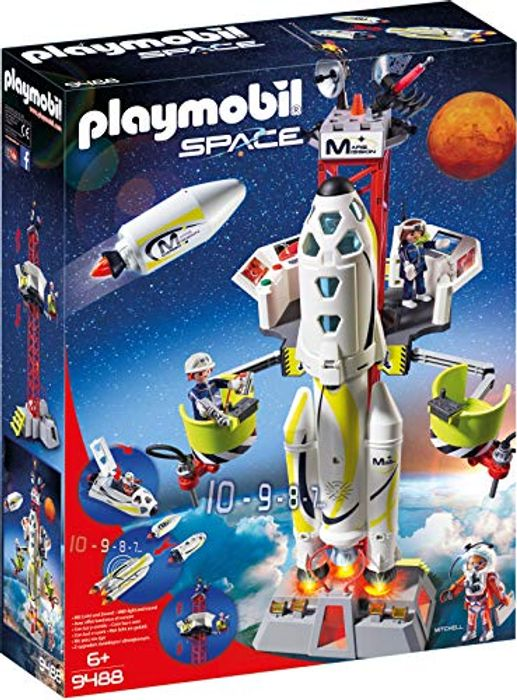 PLAYMOBIL 9488 - Mission Rocket with Launch Site **4.9 STARS**
