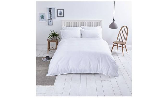 Sainsbury's Home Washed Cotton White Bedding Set - S.King Only £13.5