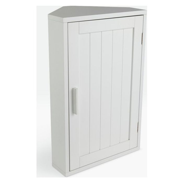 Argos Home Wooden Corner Bathroom Cabinet - White