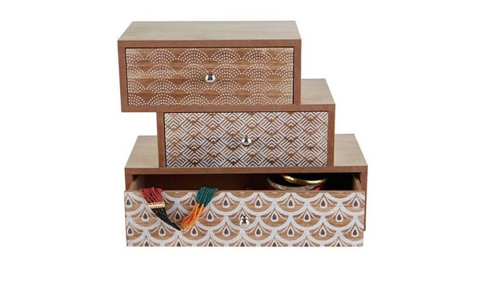 Three Tier Wooden Jewellery Box Only £6.94