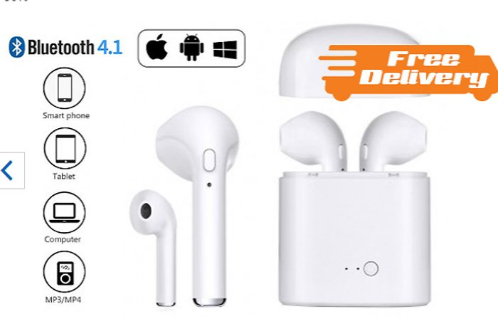 Apple & Android Compatible Wireless Earbuds - 3 Colours & Optional Charger