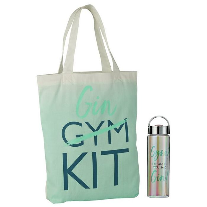 Gym/Gin Water Bottle and Bag Set C&c