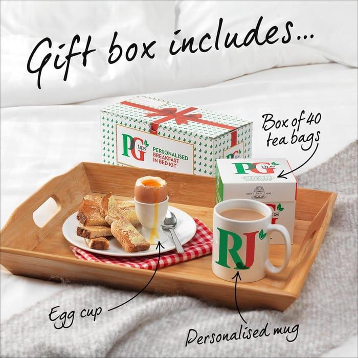 PG Tips Personalised Breakfast in Bed Gift Set