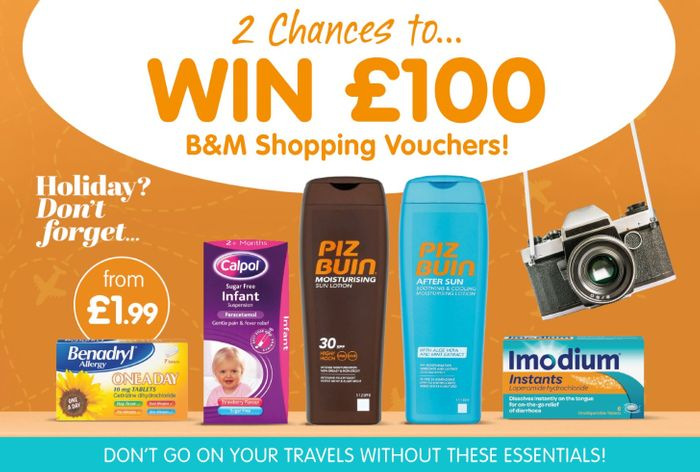 B&M's WIN £100 worth of B&M Vouchers Courtesy