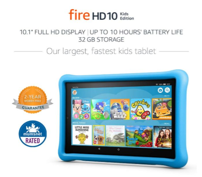 Prime Day - Fire HD 10 Kids Edition Table - save £65!
