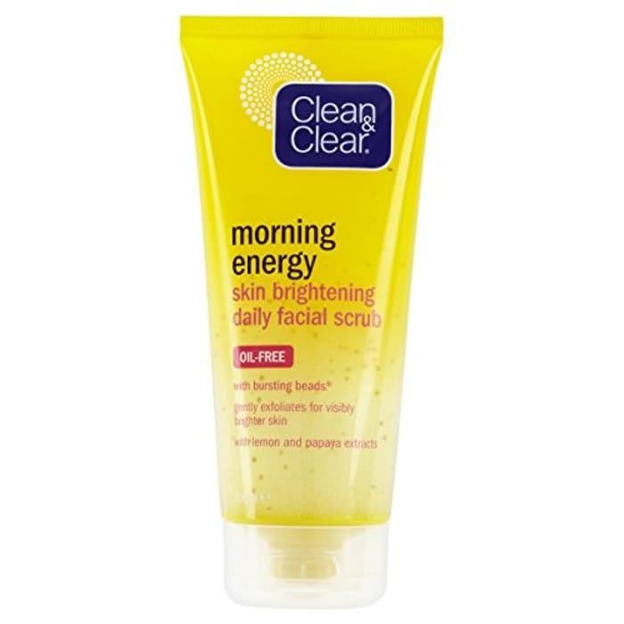 Clean & Clear Morning Energy Skin Brightening Daily Facial Scrub 150 Ml