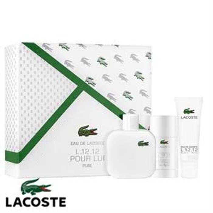 Lacoste L.12.12 Pour Lui Pure 100ml EDT Gift Set