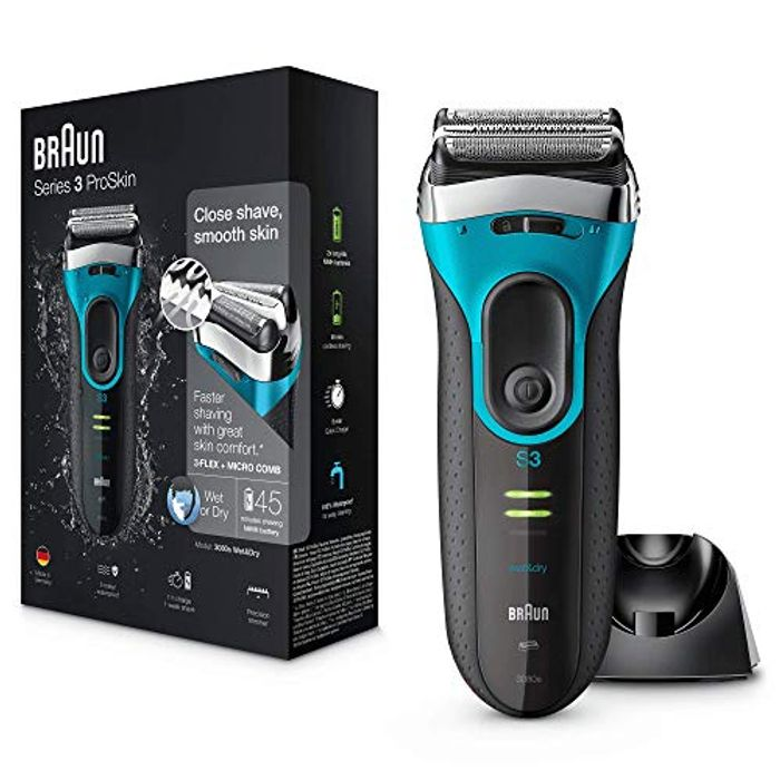 Braun Series 3 ProSkin 3080s Electric Shaver, Wet and Dry Electric Razor for Men