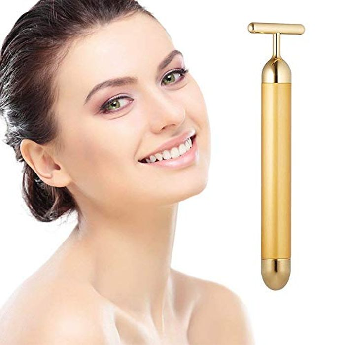 PEPECARE 24k Gold Beauty Bar Facial Roller Vibration Massager FREE DELIVERY