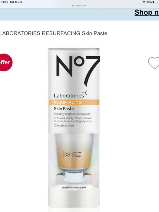 Boots £10 off No7 Laboratories & Can Be Combined with 3 for 2 Offer