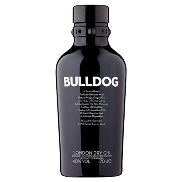 Bulldog London Gin save 23% Now £17.60 a Bottle