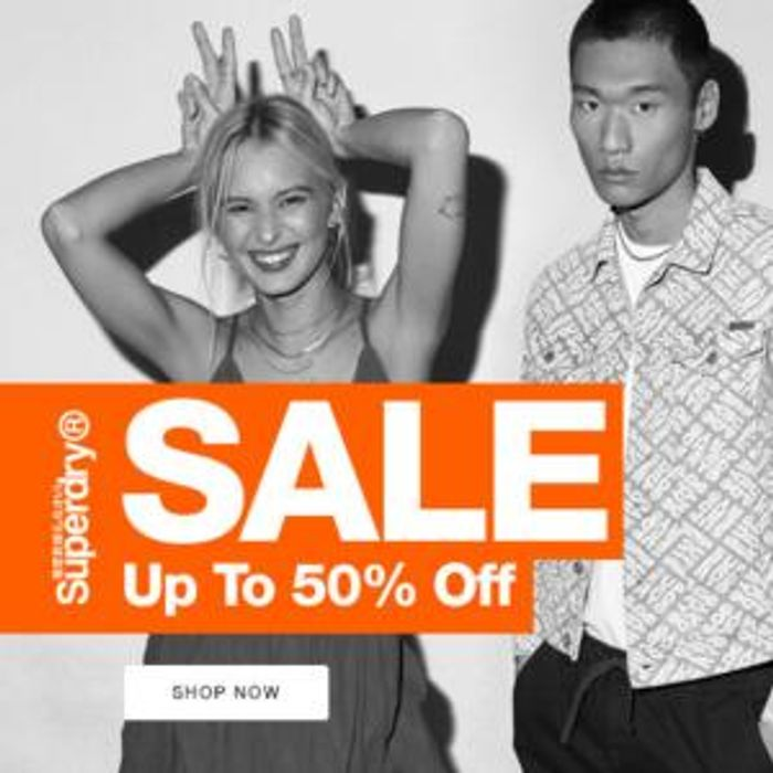 Superdry Up to 50% off Sale + Free Delivery & Returns