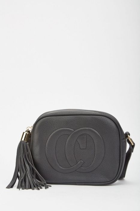 Tassel Trim Cross-Body Bag