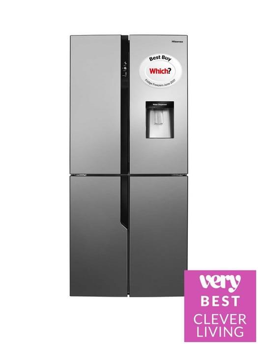 *SAVE £150* Hisense 79cm Wide Total Non Frost American Style Fridge Freezer