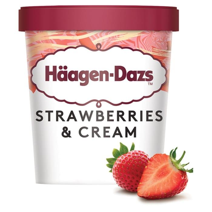 Hagen-Dazs Strawberries & Cream Ice Cream 460ml