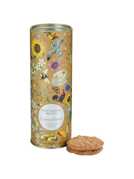 Crabtree & Evelyn London All Butter Honey and Oat Biscuits, 200g Bbe 31/5/20