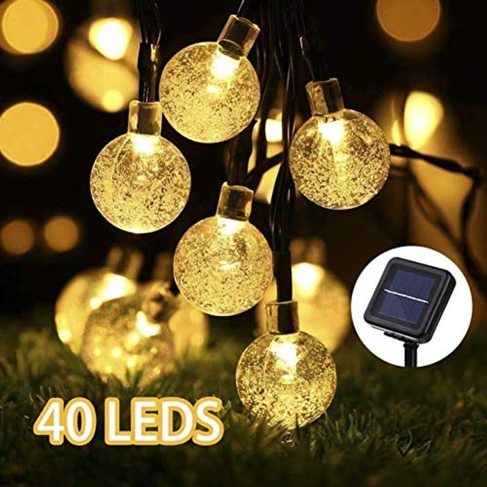 Solar String Lights 40 LED Garden Lights Solar Powered 26ft Crystal Balls