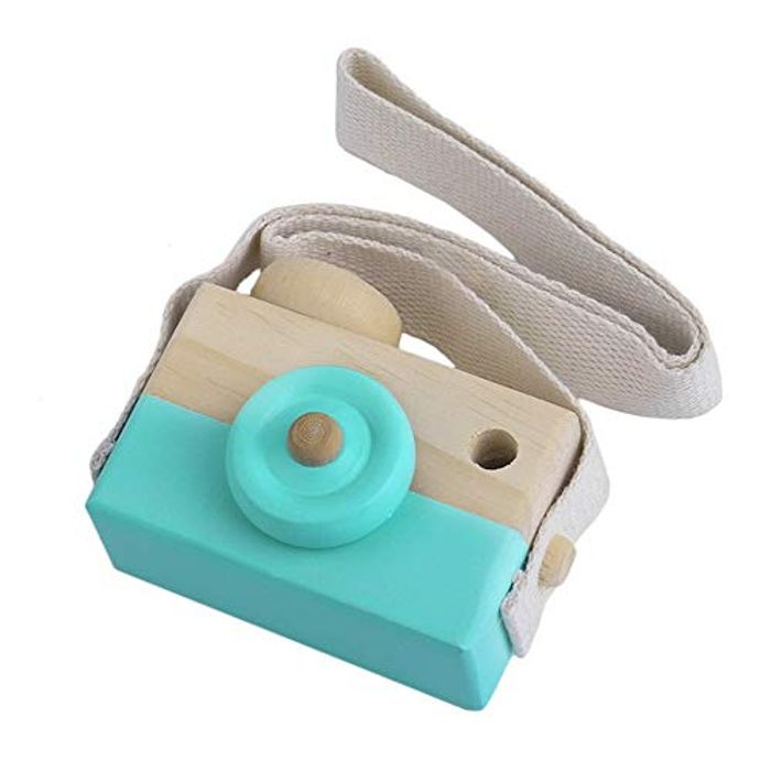 Kids Cute Wooden Toy Camera