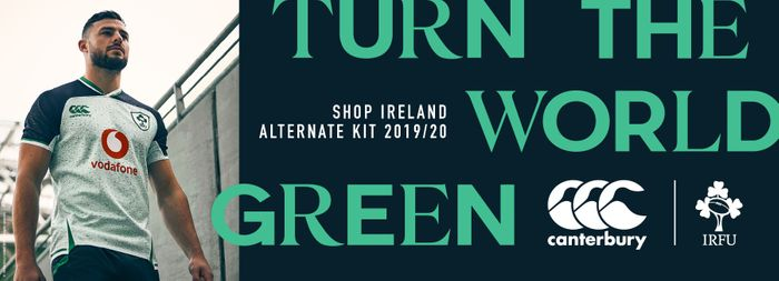 Exclusive Free Ireland Product When You Buy an Ireland Rugby World Cup Jersey