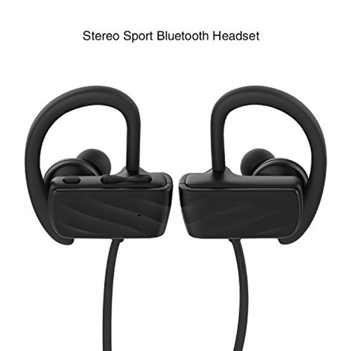 Saiveina Bluetooth 4.1Headset with Mic Noise-Cancelling Waterproof IPX4