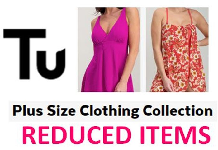 Sainsbury's Tu Clothing Sale PLUS SIZE Reduced Items