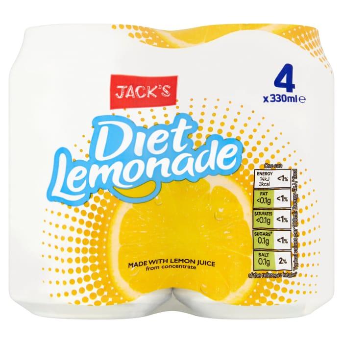 Jacks Diet Lemonade 4 X 330ml