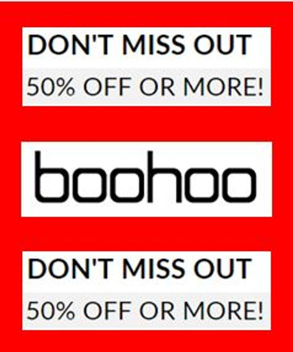 Boohoo Last Chance - Everything 50% off (Or More!)