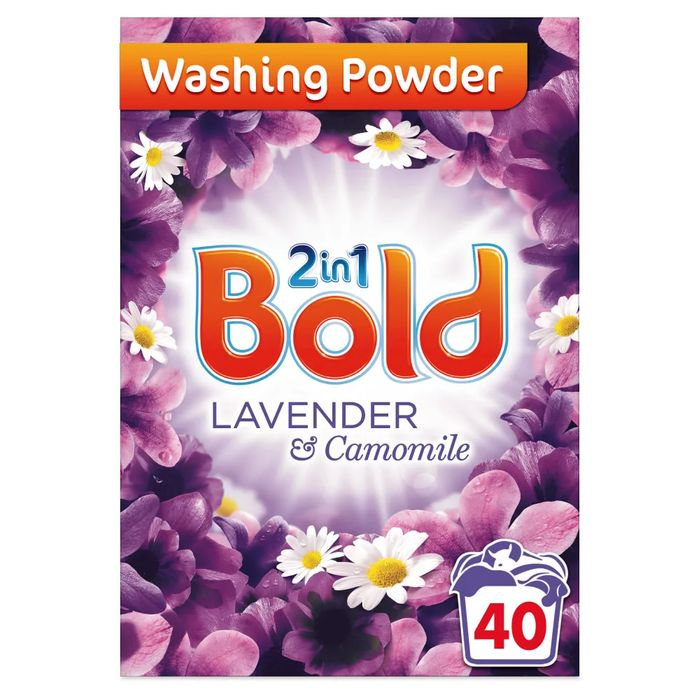 Bold 2 in 1 Touch of Lenor Lavender and Camomile Washing Powder 40 Washes 2.6kg
