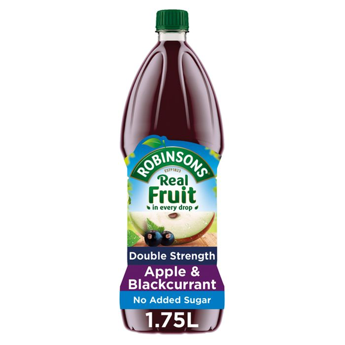Robinsons Double Concentrate Blackcurrant & Apple No Added Sugar 1.75L
