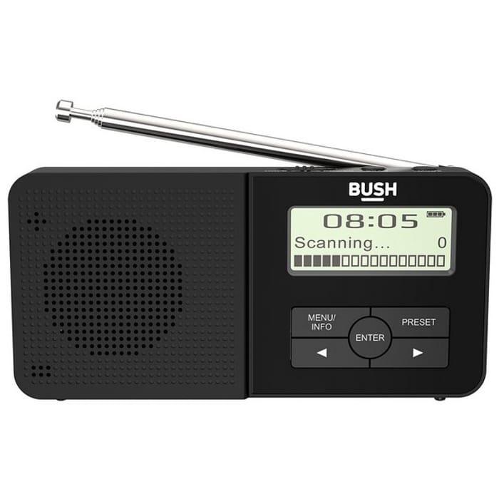 Bush Rechargeable Compact DAB Radio - Black855/7830