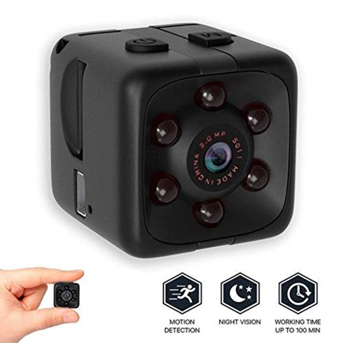 Mini Camera, 1080P HD with Night Vision, Motion Detection, Loop Recording
