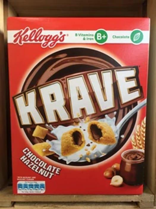Kellogg's Krave Chocolate Hazelnut 375g Onyl £1.25 at Lowpricefoods