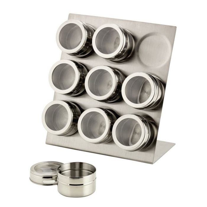 Argos Home 9 Piece Magnetic Spice Canister Set