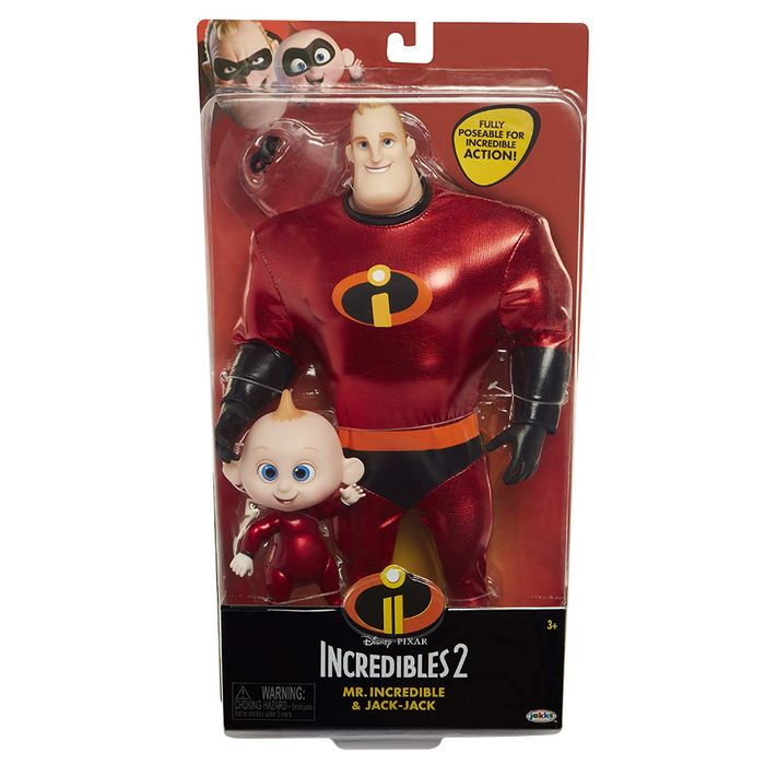Best Price! Disney Incredibles 2: Mr Incredible and Jack-Jack Action Figures