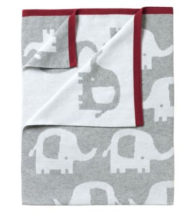 Clare De Lune Elephant Reversible Animal Blanket