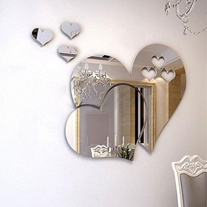 Wall Stickers 3D Mirror Love Hearts for £3 Delivered