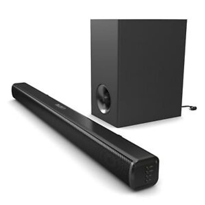 Majority TV 140 Watt Sound Bar Subwoofer with Bluetooth Optical Audio