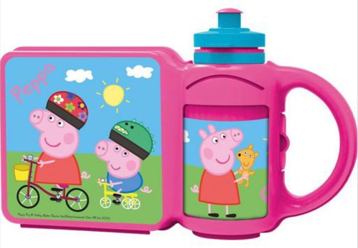 Peppa Pig Lunch Box and Bottle Combo - Free Delivery