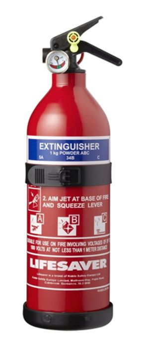 Lifesaver ABC Fire Extinguisher - 1kg * Limited Stock*